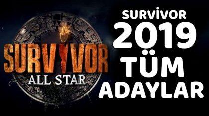Survivor 2019 Tüm Adaylar